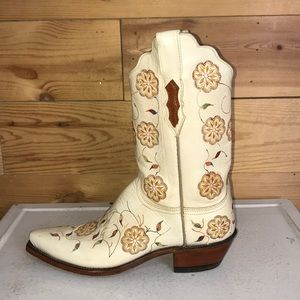 Lucchese 1883 floral snip toe cowboy boots 9B